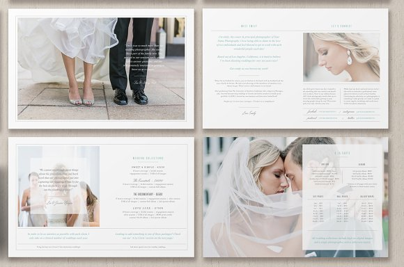 Photographer magazine layout brochure templates for Bad in design