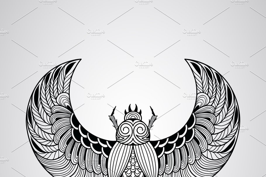 9629b1d522125 Vector Scull ~ Illustrations ~ Creative Market