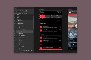 Windows 10 Mobile UI Kit - Photoshop