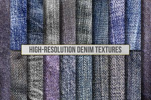 High-Res Blue Jean Denim Textures