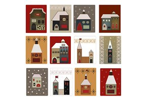 christmas houses set