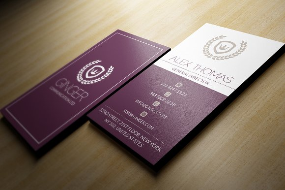 Elegant business card business card templates creative market colourmoves