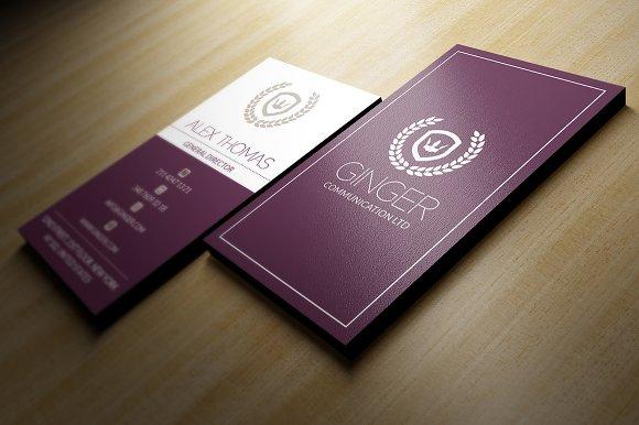 Elegant business card business card templates creative market colourmoves