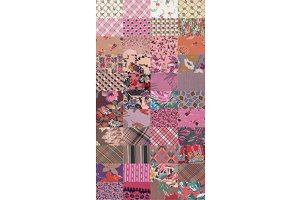 collection of quilt backgrounds-rose