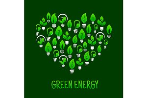 Saving energy ecological concept