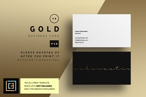 Gold - Business Card 98