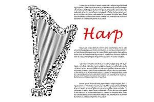 Modern concert harp