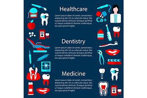 Dentistry banner or poster