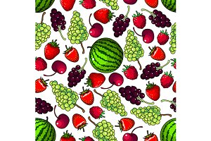 Juicy sweet berries pattern