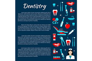 Dental treatments infographics