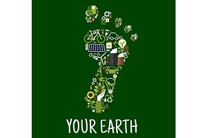 Go green concept symbol