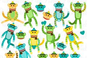 Gender Neutral Baby Sock Monkeys