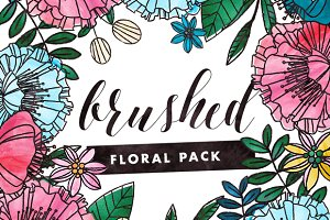 Brushed - Painted Floral Graphics