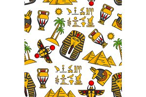 Seamless pattern of ancient egyptian
