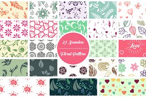 23 Seamless Floral Pattern
