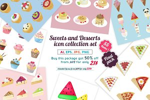 Sweet and Dessert icon final pack!!!