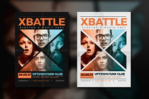 X Battle Music Flyer