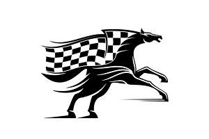 Racehorse stallion symbol