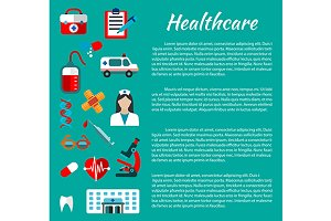 Healthcare and hospital poster