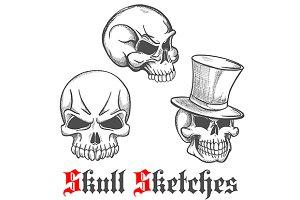 Spooky halloween skulls