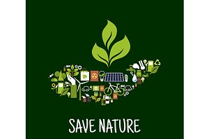 Save nature concept icon