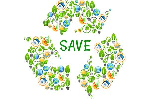 Saving and renewable icon