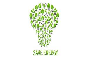 Save energy symbol