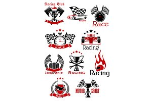 Racing sports icons