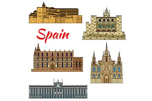 Travel landmarks of Spain