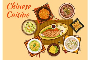 Chinese cuisine dishes