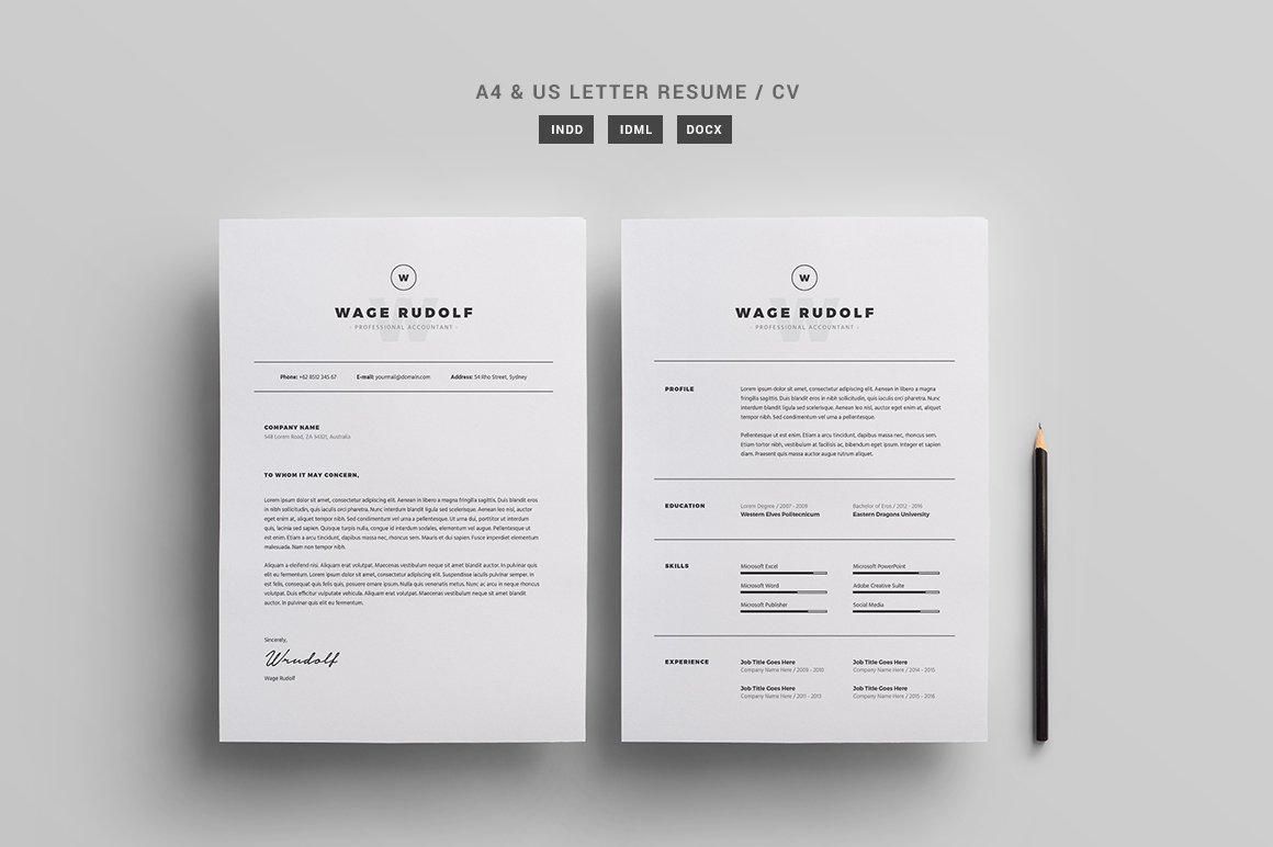 Resume / CV Template ~ Resume Templates ~ Creative Market