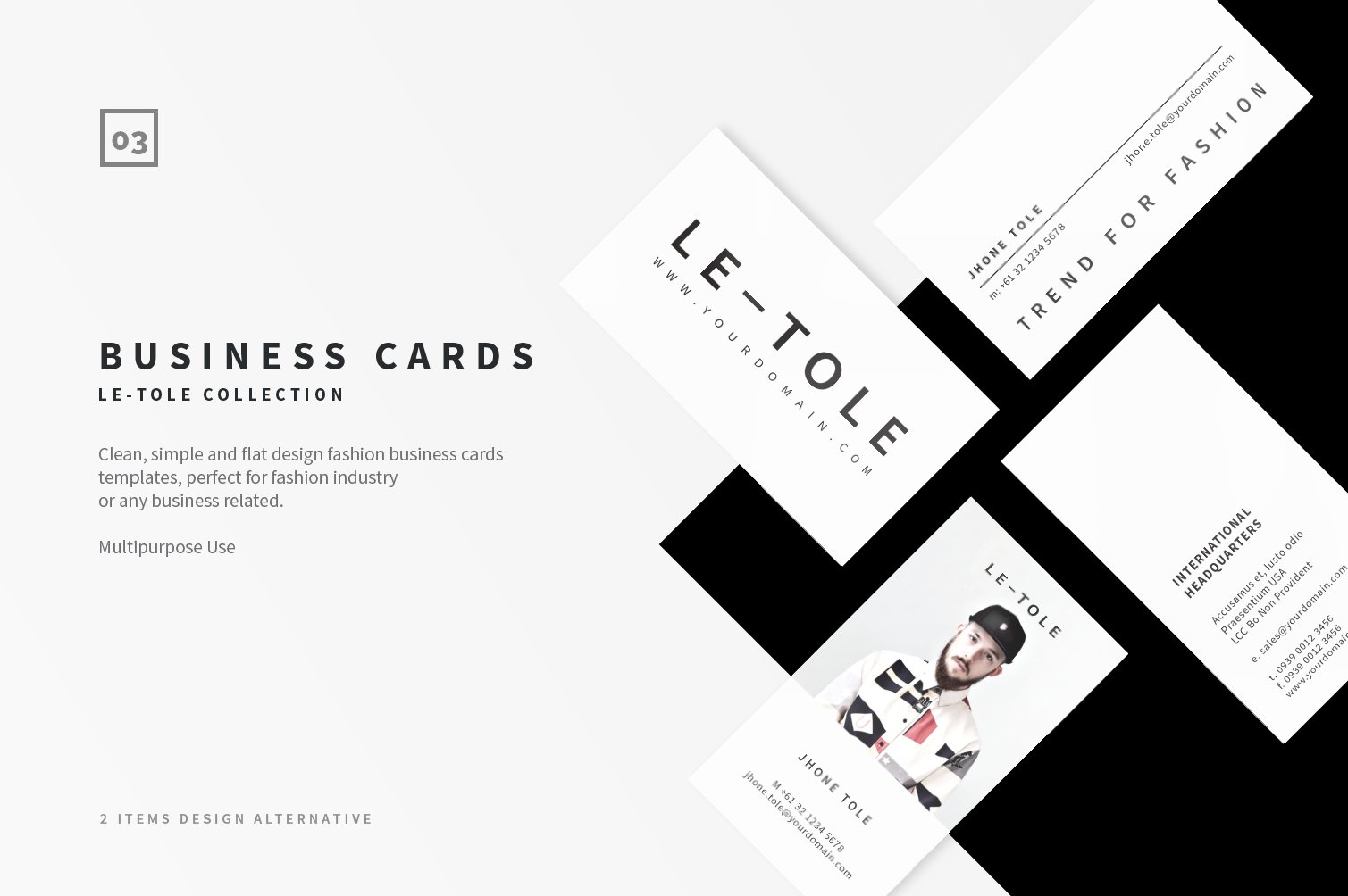 Fashion Business Cards ~ Business Card Templates ~ Creative Market