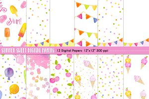 Summer Sweet Digital Papers