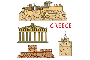 Greece travel landmarks