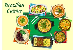 Brazilian cuisine menu dishes