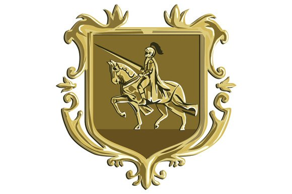 Knight Riding Steed Lance Coat