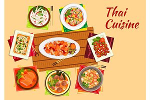 Thai cuisine dishes menu
