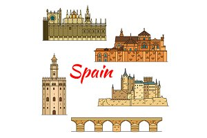 Spanish historical travel landmarks