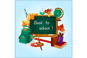Back to school theme poster