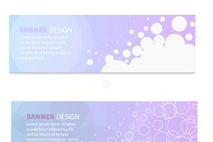Web pastel banners