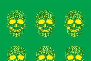 Skull vector pattern background