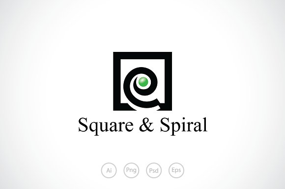 Square Spiral Logo Template