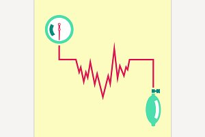 Blood Pressure Measuring Icon