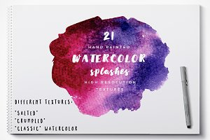 21 Watercolor splashes
