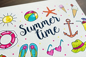 vector summer time icons