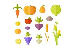 Set of Fruits & Vegetables
