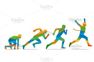 Running step. Runner start - finish
