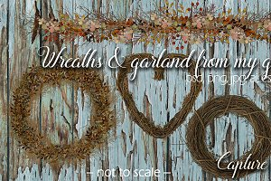 Large Wreaths & Garland Cilpart