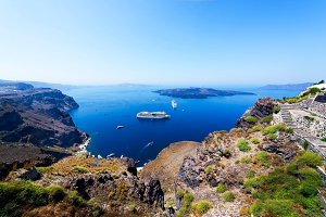 Landscape, Santorini, Greece