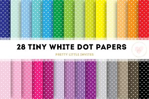 White Tiny Dot Digital Papers